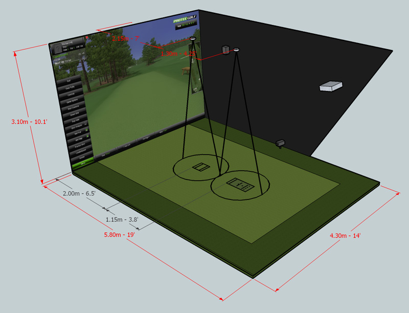 dimensions of sensor pads golf simulator forum